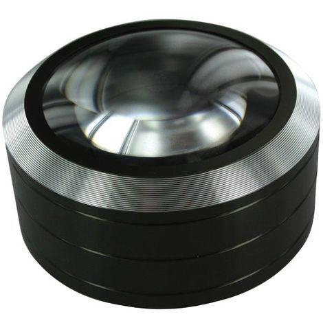 Loupe LED de lecture corps aluminium lentille 70 mm