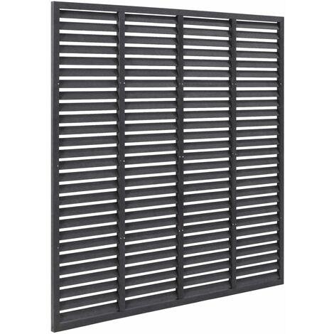 Louver Fence WPC 170x170 cm Grey