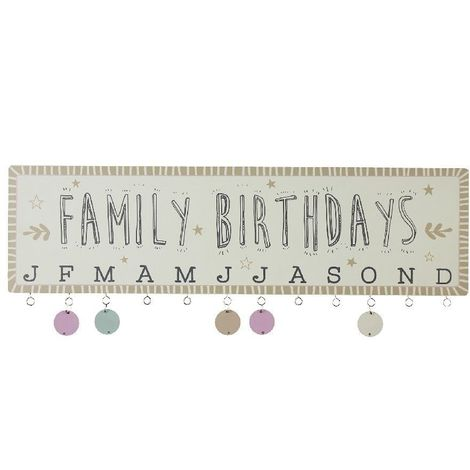 Love Life Family Birthdays Hanging Plaque with Discs