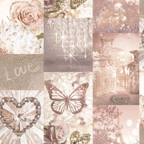 Love Paris Wallpaper Blush Pink Arthouse Glitter Sparkle Butterfly Flower