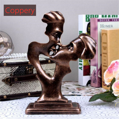 Lovers Statue Kiss Resin Shaped Sculpture Ornaments Home Decor Gift No??L Hasaki