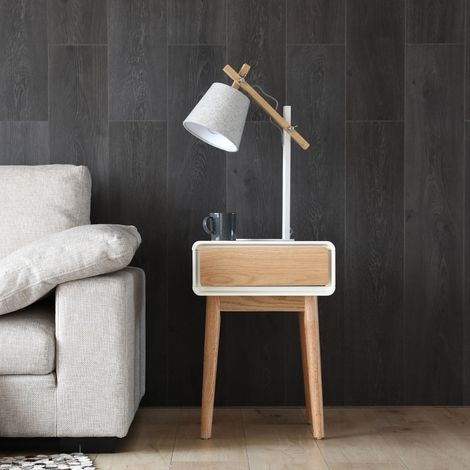 Lovisa blanc : bout de canapé scandinave, table de chevet, table d'appoint