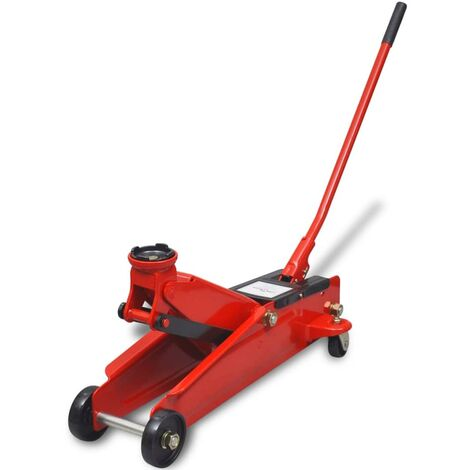 Low-Profile Hydraulic Floor Jack 3 Ton Red