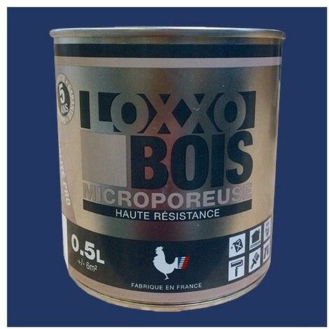 LOXXO Peinture Bois Microporeuse Bleu nocturne - 0,5 L