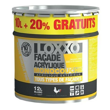 LOXXO Peinture Façade Acrylique 12L Blanc - 12 L