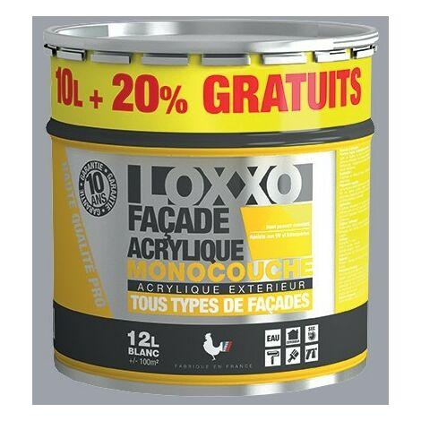 LOXXO Peinture Façade Acrylique 12L Ciment RAL 7040 - 12 L