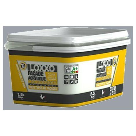 LOXXO Peinture Façade Acrylique 2,5L Ciment RAL 7040 - 2,5 L