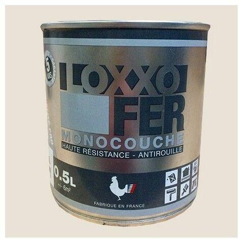 LOXXO Peinture Fer Antirouille Blanc crème - 0,5 L