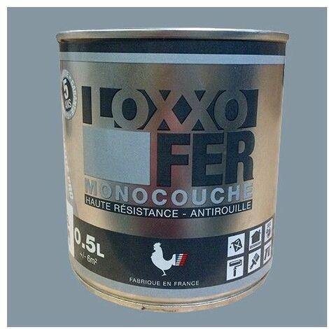 LOXXO Peinture Fer Antirouille Gris argent - 0,5 L