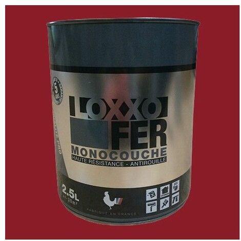 LOXXO Peinture Fer Antirouille Rouge Basque - 2,5 L