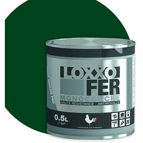 LOXXO Peinture Fer Antirouille Vert Basque 0,5 L - Vert Basque