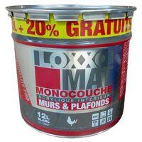 LOXXO Peinture Mat Monocouche 12L Blanc - 12 L