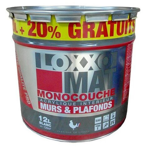 LOXXO Peinture Mat Monocouche Blanc 15 L - Blanc