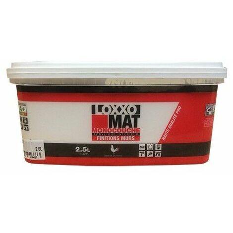 LOXXO Peinture Mat Monocouche Blanc - 2,5 L