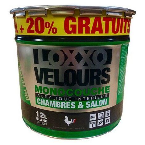 LOXXO Peinture Velours Monocouche 12L Blanc 12 L - Blanc
