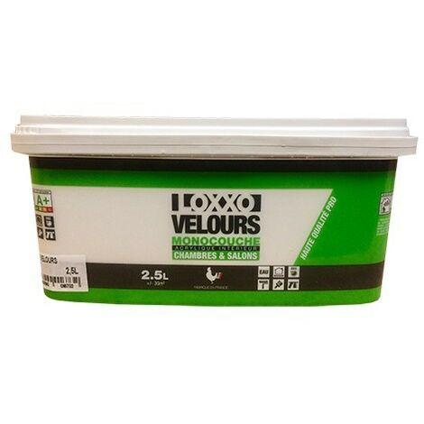 LOXXO Peinture Velours Monocouche 2,5L Blanc 2,5 L - Blanc