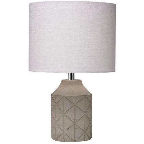 LUCA TABLE LAMP GREY / WHITE SHADE
