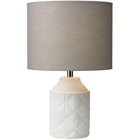 LUCA TABLE LAMP - WHITE / GREY SHADE