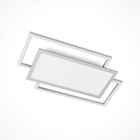 Lucande Ciaran plafón LED, rectangular