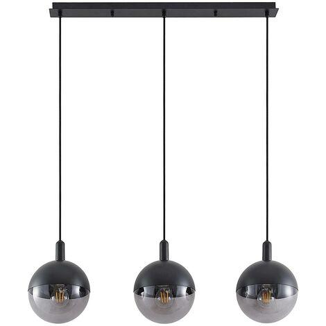 Lucande Dustian lámpara colgante, 3 luces, 90 cm