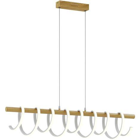 Lucande Milora lámpara colgante LED, roble