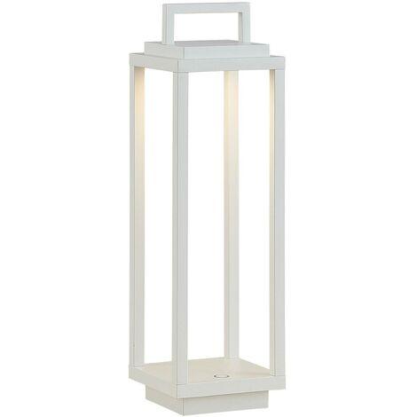 Lucande Mirina farol exterior LED, USB, blanco