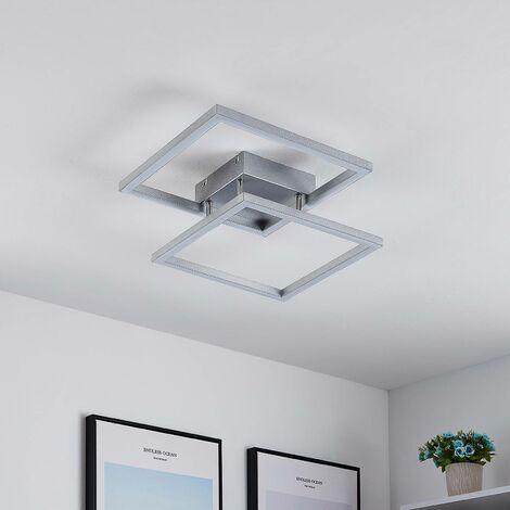 Lucande Muir plafón LED, cuadrados