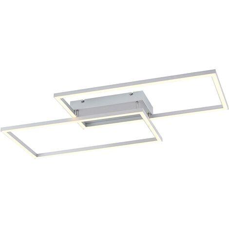 Lucande Muir plafón LED, rectángulos, CCT