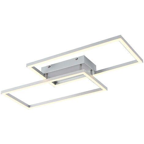 Lucande Muir plafón LED, triángulos