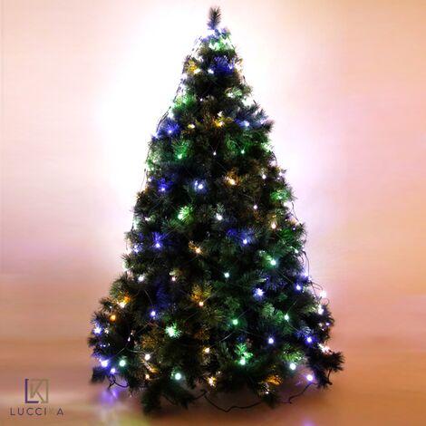 """main image of """"Luccika mantello a rete per albero di Natale con controller 8 giochi di luce con memoria per uso interno ed esterno Bianco Caldo 288 Led - Per Alberi da 230 a 290 cm"""""""