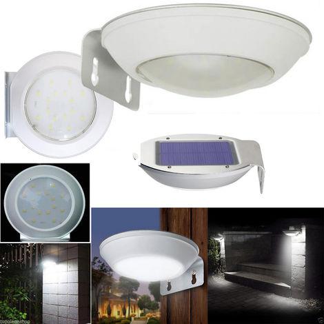 Luce Per Esterno Con Pannello Solare.Luce 16 Led Smd Pannello Solare Ricaricabile Da Giardino Per Esterno Con Staffa