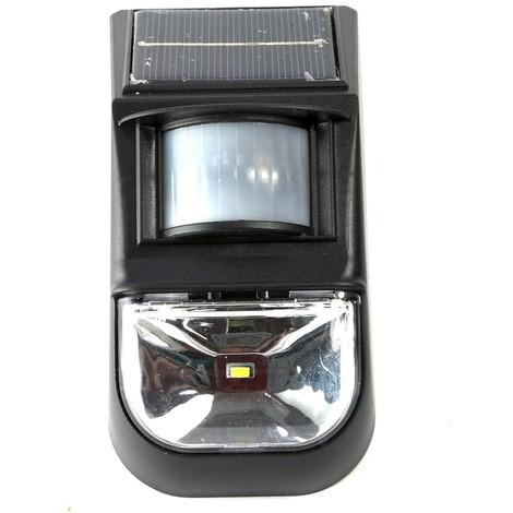 30 LED SENSORE PIR luce bianca giardino esterno FARETTO PANNELLO SOLARE 20 LED