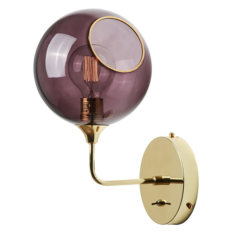 Greenice - Luce A Muro 'Ballroom Purple Rain' Ø370mm E27 Senza Lampadina (DBU-22735)