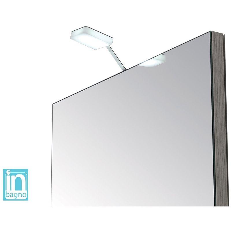 Inbagno - Luce Led Bagno per Specchio Doppia Installazione 4 W in Acciaio