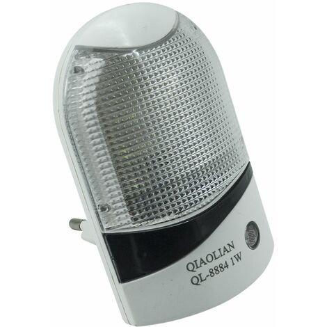 Luce notturna 1w lampada sensore crepuscolare automatica mini led ql-8884