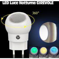 Luce Notturna LED Lampada Lumino Notte per Bambini Girevole 360 Crepuscolare