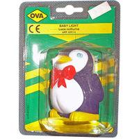 Luce notturna Ova forma pinguino luce bambini neonati lampadina ignifuga