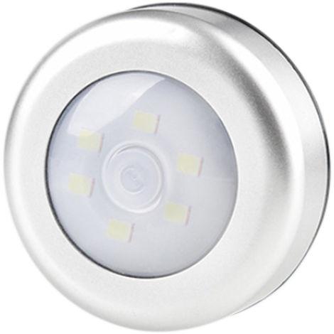 Luce per armadio, luce notturna, 6 LED, bianco