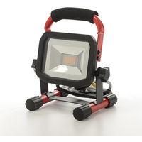 Luceco USB Rechargable LED Worklight 10W 5V Red/Black
