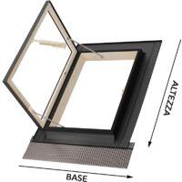 Lucernaio/Finestra da tetto - Linea Best - apertura libro in alluminio - Emica