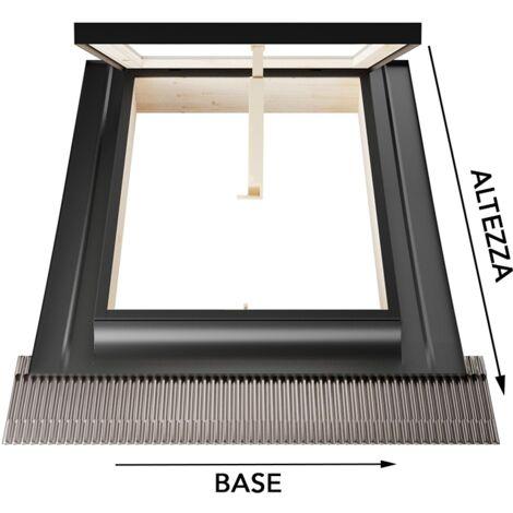 Lucernaio/Finestra da tetto - Linea Best - apertura vasistas in alluminio - Emica