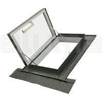Lucernario - Finestra per uscita sul tetto con Vetro camera 3-9-3 e Apertura laterale a 90°