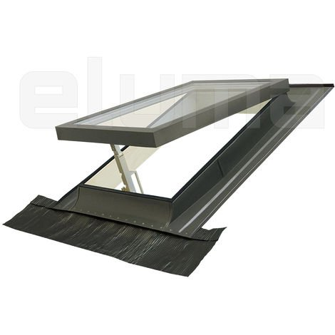"""main image of """"Lucernario Vasistas - Finestra per accesso al tetto con Doppio vetro - Made in Italy (100x64 Base x Altezza)"""""""