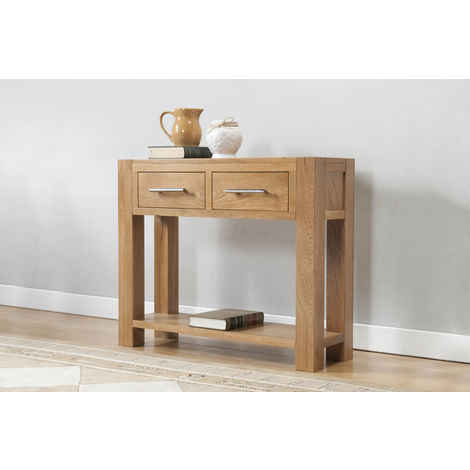 Lucerne Large console 2 drawers & shelf