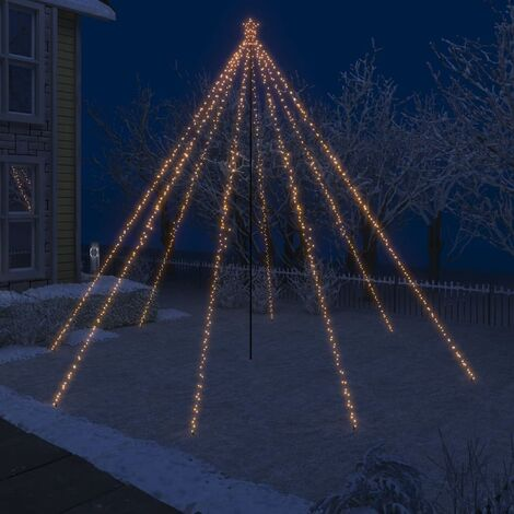 Luces de árbol cascada de Navidad interior exterior 800 LED 5 m