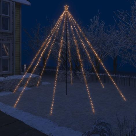 Luces de arbol cascada de Navidad interior exterior 800 LED 5 m