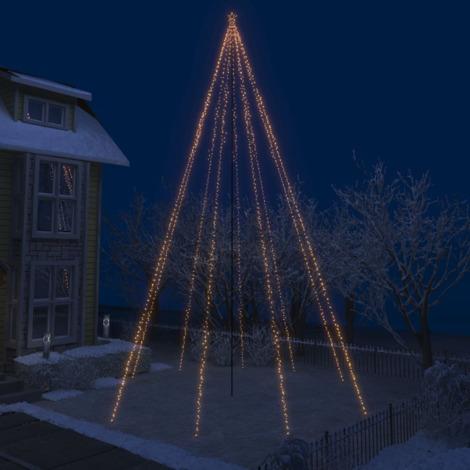 Luces de arbol cascada Navidad interior exterior 1300 LEDs 8 m