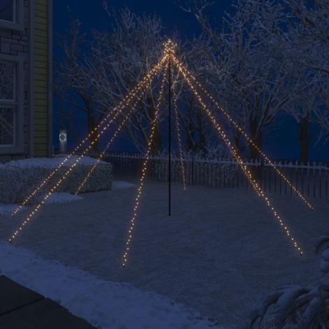 Luces de arbol cascada Navidad interior exterior 576 LED 3,6 m