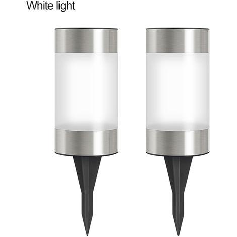 Luces de camino de jardin solar con lampara de cesped, 2 piezas