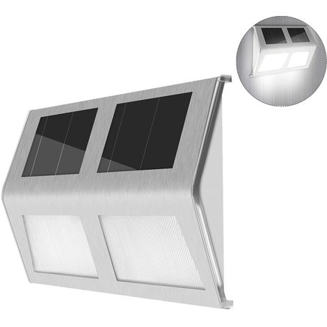Luces de escalera con energia solar, Aplique, 4LED,luz blanca